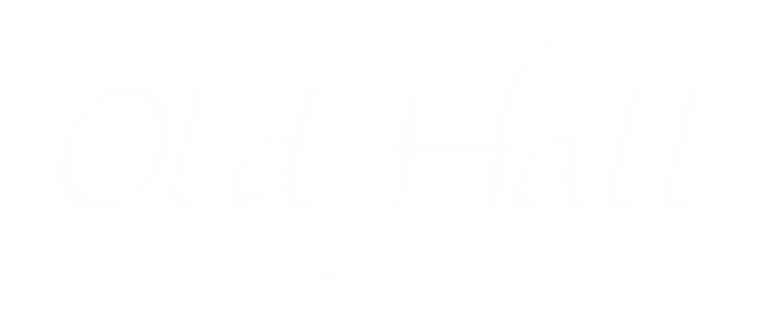 Old Hall Landscape Logo WHITE