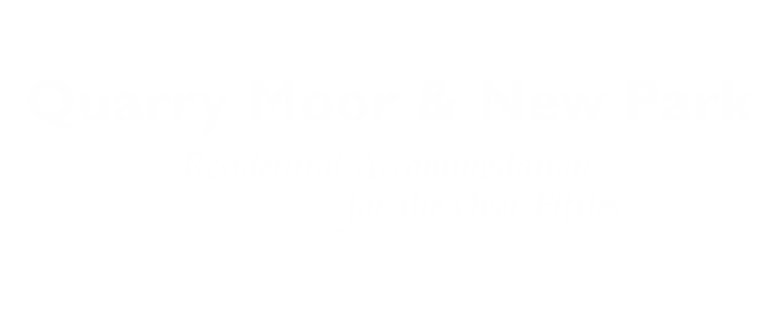 Quarry Moor & New Park Landscape Logo WHITE