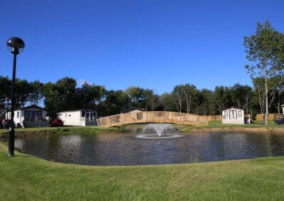 Pond and Fountain at Woodlands Swaleside