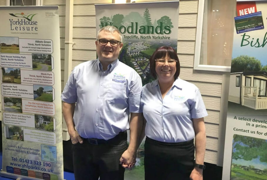 John and Sam Reay are the friendly faces you'll meet first at York House Holiday Park and Abbots Green