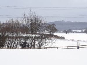 The view from York House Holiday Park after The Beast from the East